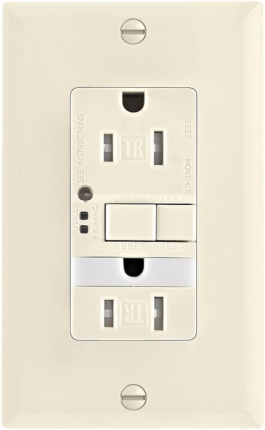 Automatic 4.2 In L X 1.68 In W X 1.27 In D EATON TRSGF15RB-L Wiring Self-Test Tamper Resistant Gfci Receptacle