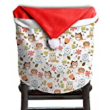 Owl Animal Christmas Chair Covers Modern Design Not Fade Chair Covers For Christmas For Husbands Armless Chair Slipcover Holiday Festive