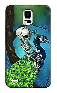 Sangu Skull Peacock Hard Back Shell Case / Cover for Samsung Galaxy S5