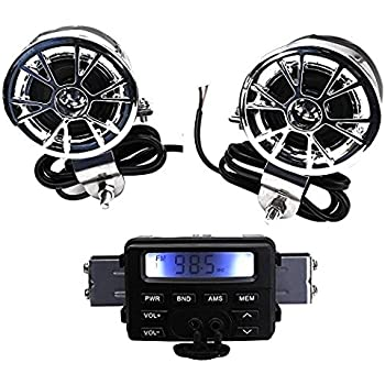 Amazon Com Ohmotor Motorcycle Audio Systems Waterproof