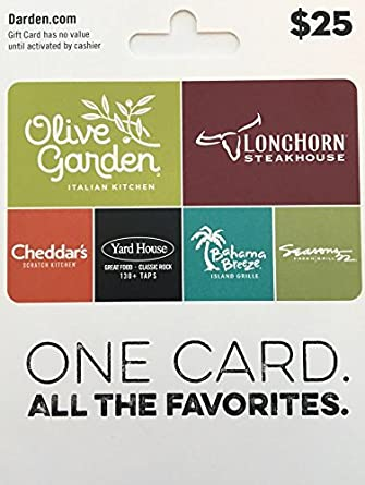 photo regarding Printable Restaurant Gift Cards identified as Darden Dining establishments Present Card