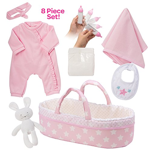 "Adora Adoption Baby Essentials ""Its a Girl"" 16 Inch Girl Clothing Toy Gift Set for 3 Year Old Kids and up"