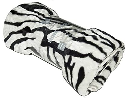 Intimates - Mantas para cama estampado de cebra de tiro de imitación de piel visón 150