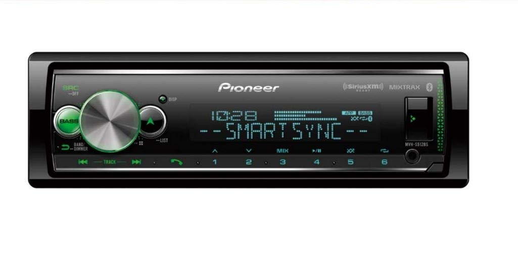 Pioneer MVH-S512BS Multimedia Player (Does not Play CD's) with Bluetooth by PIONEER