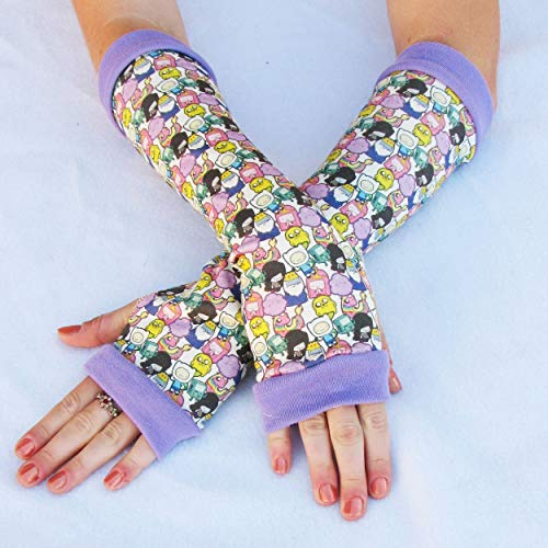 Adventure Time anime arm warmers gloves