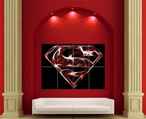 SUPERMAN FRACTAL ART GIANT WALL PRINT POSTER ART (Superman Wall)