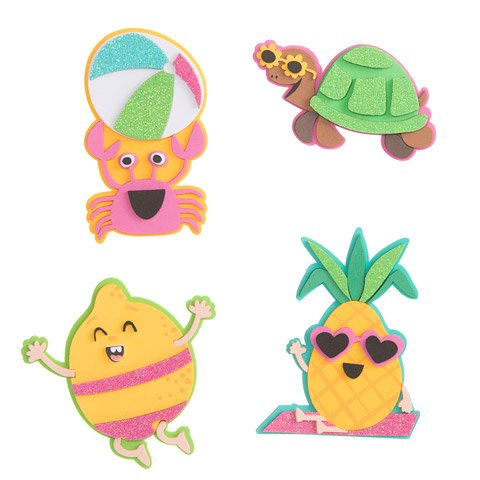 Summer Poolside Character Foam Craft Kit- Makes 20