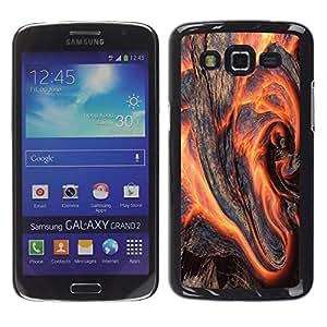 Be Good Phone Accessory // Dura Cáscara cubierta Protectora Caso Carcasa Funda de Protección para Samsung Galaxy Grand 2 SM-G7102 SM-G7105 // Art Magma Lava Volcano Nature Earth Fire