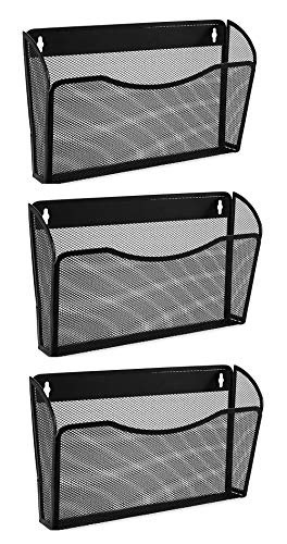 - Easepres Mesh 3 Pockets File Organizer Hanging File Organizer Vertical Wall File Organizer Holder Rack
