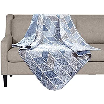 SLPR Heather Printed Quilted Throw Blanket (50