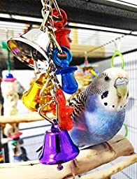 1107 Jingle Bells Bird Toy Parrot Cage Craft Toys Cages Cockatiel Lovebird Parrotlet
