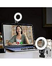 Video Conference Lighting Kit, Fotografie Fill Light met Clip 3 kleurtemperaturen 3200K-6500K Dimbaar voor Remote Working, Live Broadcasting, Selfies, Making Up