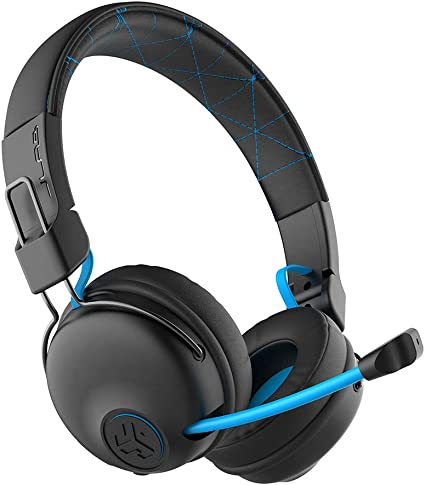 Amazon Com Jlab Audio Play Gaming Wireless Headset 22 Hour Bluetooth 5 Playtime 60ms Super Low Latency For Mobile Gameplay Retractable Boom Mic Aux Gaming Cord Compatible With Gaming Consoles Home