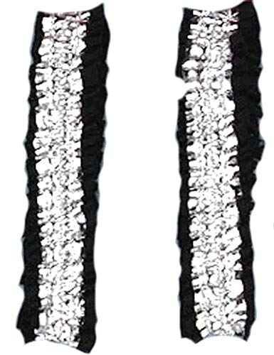 Forum Novelties Silver and Black Garter/Armband -