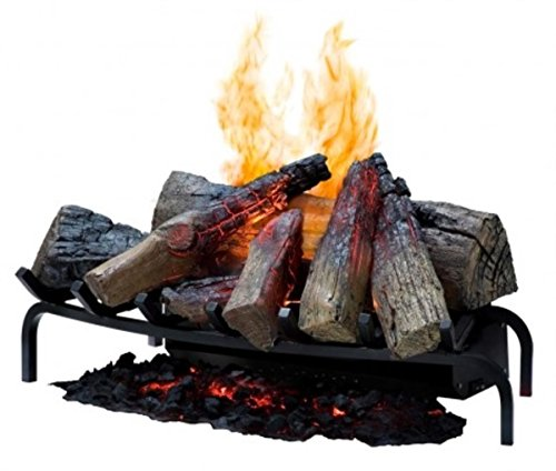 Faux Log (Dimplex DLGM29 Opti-Myst Open Hearth Fireplace Insert with Faux Logs Bed, Alabaster)