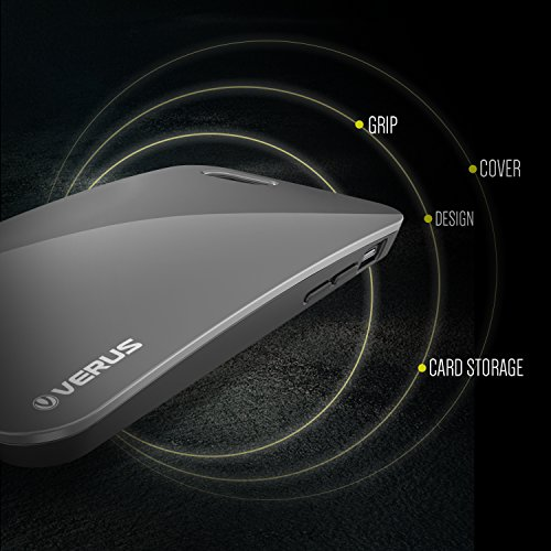 VERUS Pebble Coque rigide pour Apple iPhone 6avec porte-cartes Steel Silver