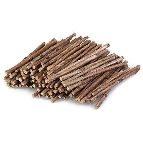 ULTNICE Wood Sticks Natural Branch Sticks DIY Art Craft Log Sticks Photo Props 100pcs (Wood Color)
