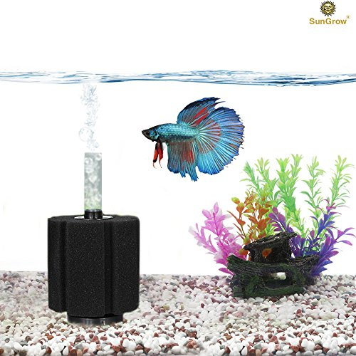 SunGrow Aquarium Betta Filter - Clear Water in ONE Day - Slow Current - Perfect for Fry & Small Fish