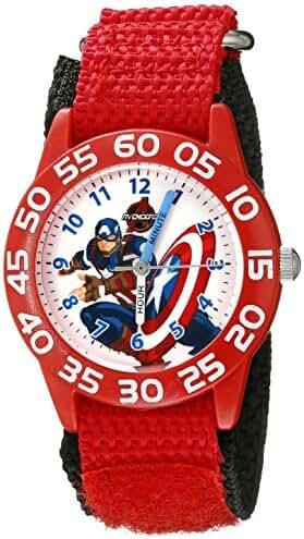 Marvel Kids' W002601 Captain America Time Teacher Analog Display Analog Quartz Red Watch