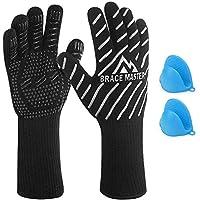 Barbecue Handschoenen, Hittebestendig tot 800 ° C, Met een Paar Siliconen Handschoenen in Verpakking, Ovenwanten, Voor…