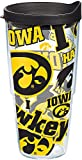 Tervis 1258252 NCAA Iowa Hawkeyes All Over Tumbler with Lid, 24 oz, Clear
