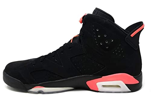 new arrival 516fd 68ff3 Nike Mens Air Jordan 6 Retro Infrared Black Infrared 23 Suede Basketball  Shoes Size 11.5  Buy Online at Low Prices in India - Amazon.in
