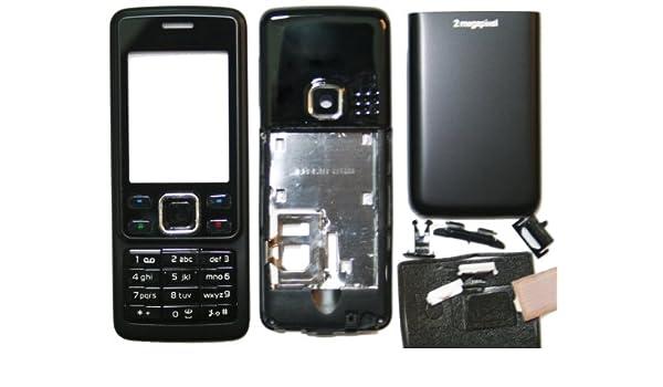 bay24   Cover para Nokia 6300 Full Cover Metal - Carcasa con teclado Matte, Negro: Amazon.es: Electrónica