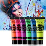 PARTY ZOOM Neon Face and Body Paint Glow in The Dark