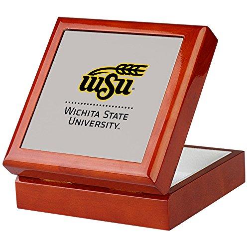 (CafePress - WSU Wichita State University - Keepsake Box, Finished Hardwood Jewelry Box, Velvet Lined Memento Box)