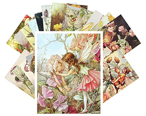 Postcard Set 24 cards Cecile Barker Flower Fairy Vintage Book Illustrations