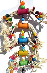 Bonka Bird Toys 1846 Pluck My Bobbins Bird Toy parrot cage toys cages african grey amazon macaw