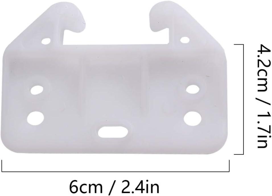 Balacoo Tiroir de guides de tiroir en plastique de 100 pi/èces guides de piste de tiroir /à 7 trous support de guide de tiroir de remplacement pour commodes huches et syst/èmes de tiroirs