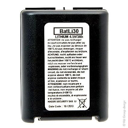 DAITEM - Batería no Batli30 de origen 4.5V 3Ah litio para ...