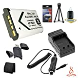 Halcyon 1800 mAH Lithium Ion Replacement NP-BX1 Battery and Charger Kit + Memory Card Wallet + SDHC Card USB Reader + Deluxe Starter Kit for Sony CyberShot DSC-RX100, CyberShot DSC-RX1, Cybershot DSC-RX100M1, Cybershot DSC-RX1R, CyberShot DSC-WX300, Cyber