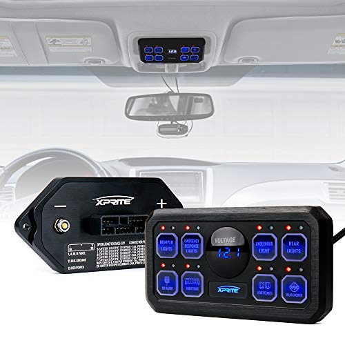 The Gang Box - Xprite Universal 8 Gang Switch Panel Box Control System for Car Truck Jeep Toyota UTV Boat RV Trailer