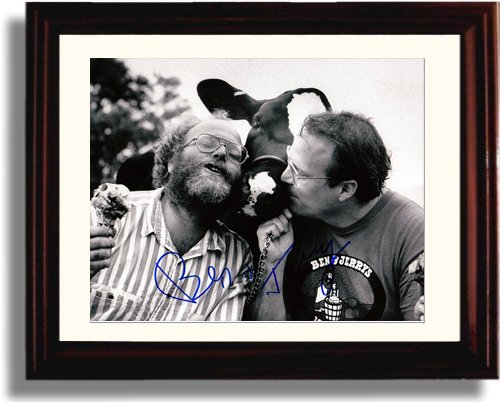 Framed Ben and Jerry Autograph Replica Print - Ice Cream Inventors
