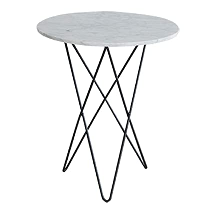 1f6ea41ad1a4 Image Unavailable. Image not available for. Color  Folding desk Marble Print  Round Coffee Table with Black Metal Box Frame 2 Sizes (Size