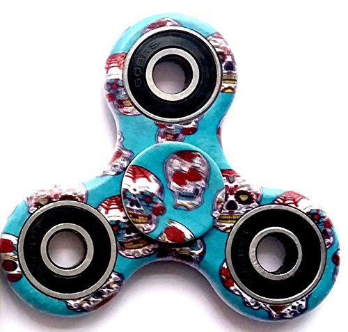 Fidget hand spinner - Twiddle Toy to Reduce Stress and Relieve Anxiety. A friend helps you, your Children Focus and Stay Awake. Great gift for Adults and Kids with ADHD or Autism (colorful steel 1)