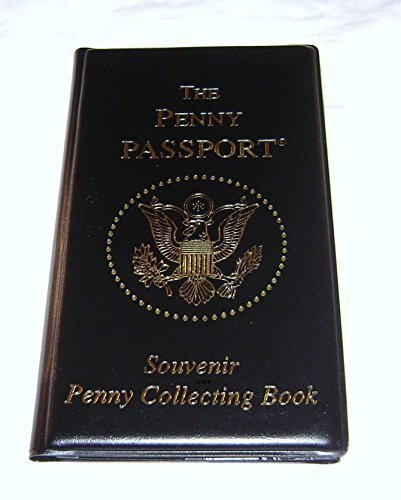 Penny Passport Souvenir Penny Collecting Book for Coins Fits 36 Pressed Pennies and 8 Pressed Quarters or Nickels]()