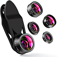 ZPTONE Cell Phone Camera Lens 5 in 1 Clip On Camera Lens...