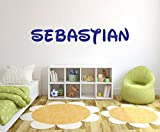 Nursery Boys and Girls Custom name - Personalized name - wall decal baby room - Wall Decal for Childrens Decoration (Wide 40''x7'' Height Inches)