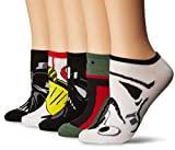 Star Wars Women's 5 Pack No Show, Assorted, fits Sock Size 9-11 fits Shoe Size 4-10.5