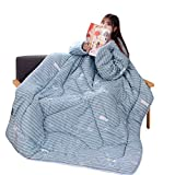 EnjoCho Clearance Sale! 150 x 200cm Winter Lazy Quilt with Sleeves Family Blanket Cape Cloak Nap Blanket Dormitory Mantle Covered Blanket (E)