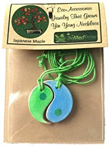 Unique Eco-Friendly Biodegradable Gifts You Can Wear9829; Unusual Matching Yin Yang Symbol Designs Contain Plantable Japanese Maple Tree Seeds9829; Perfect Romantic Valentine's Day Gift Idea