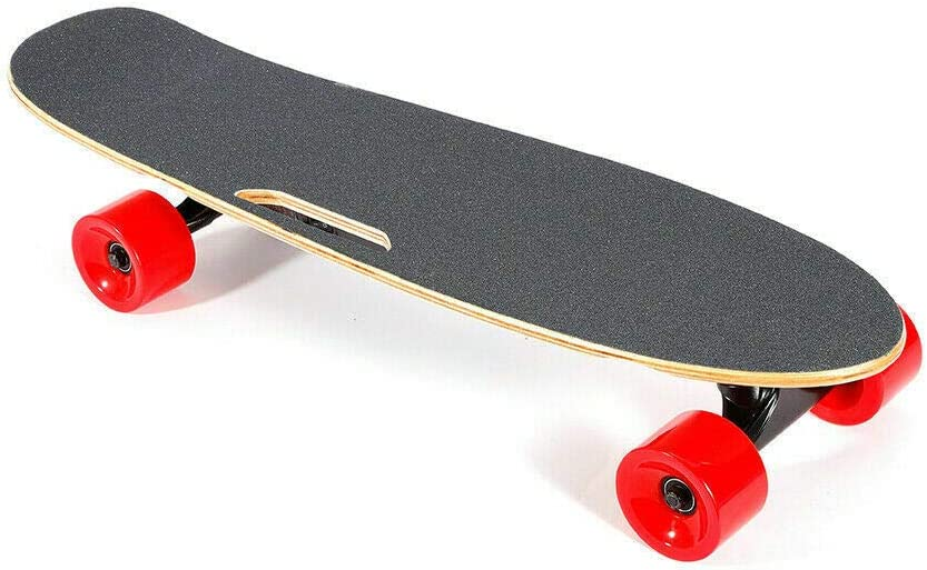 Wangkangyi 20km//h Elektro Skateboard Longboard Hartahorndeck+PU-Rad Rot mit Fernbedienung High Speed E Skateboard Longboard f/ür Erwachsene Jugendliche