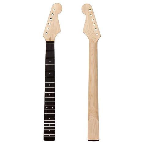 ammoon Cuello de Guitarra de Arce Diapasón de Palisandro para Reemplazar para ST Strat Guitarra Eléctrica