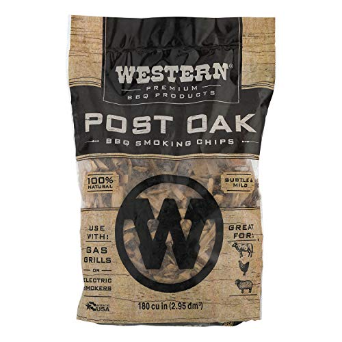 Western Premium BBQ Products Post Oak BBQ Smoking Chips, 180 cu in ()