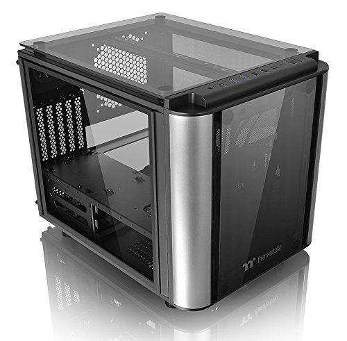 Thermaltake Level 20 VT Tempered Glass Interchangeable Panel DIY LCS Chamber Concept Micro ATX Modular Gaming Computer Case CA-1L2-00S1WN-00 - Matx Cube Case