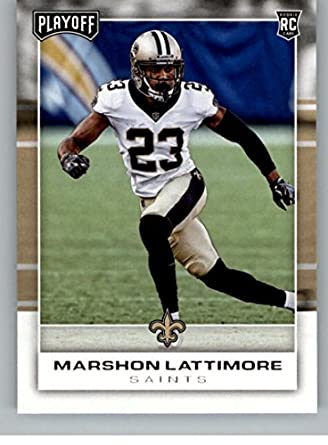 Amazon.com  2017 Panini Playoff  245 Marshon Lattimore Rookie NM-MT ... f8f89b3ef