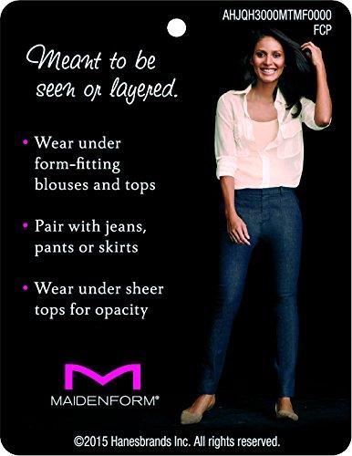Maidenform Mujer Flexees Shapewear Seamless camiseta de tirantes Negro